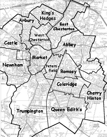 Cambridge interactive ward map